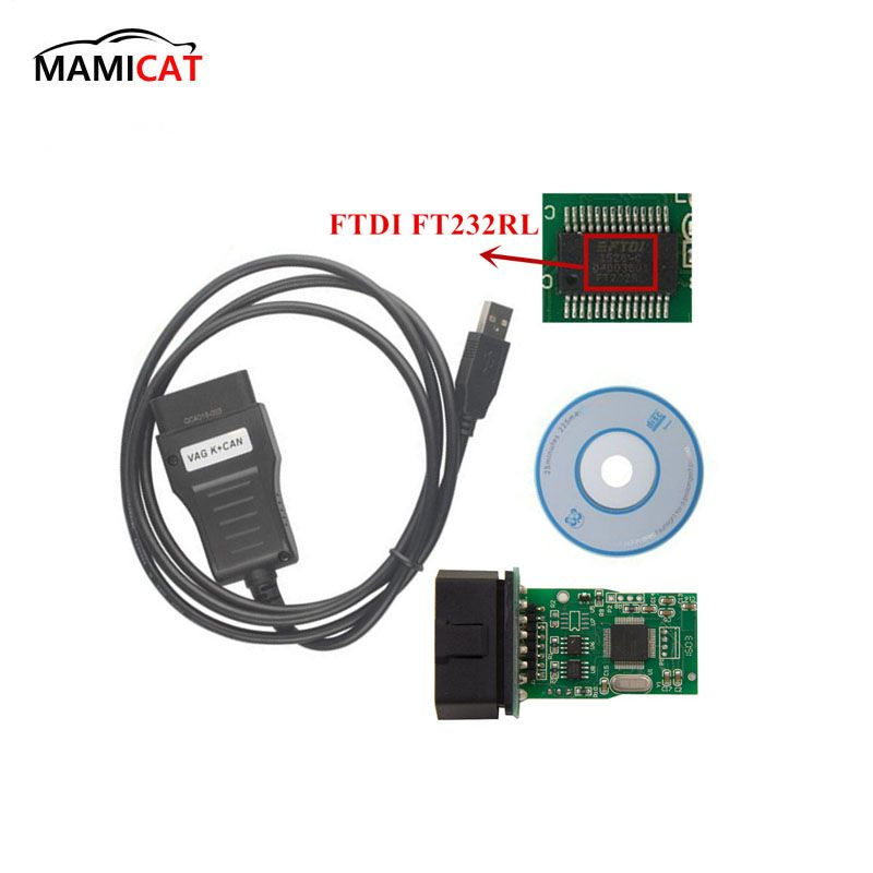 VAG 3.6 Diagnostic Interface VAG K+CAN COMMANDER 3.6 With FTDI FT232RL Chip OBD Diagnosis Cable For Odometer Correction For VAG