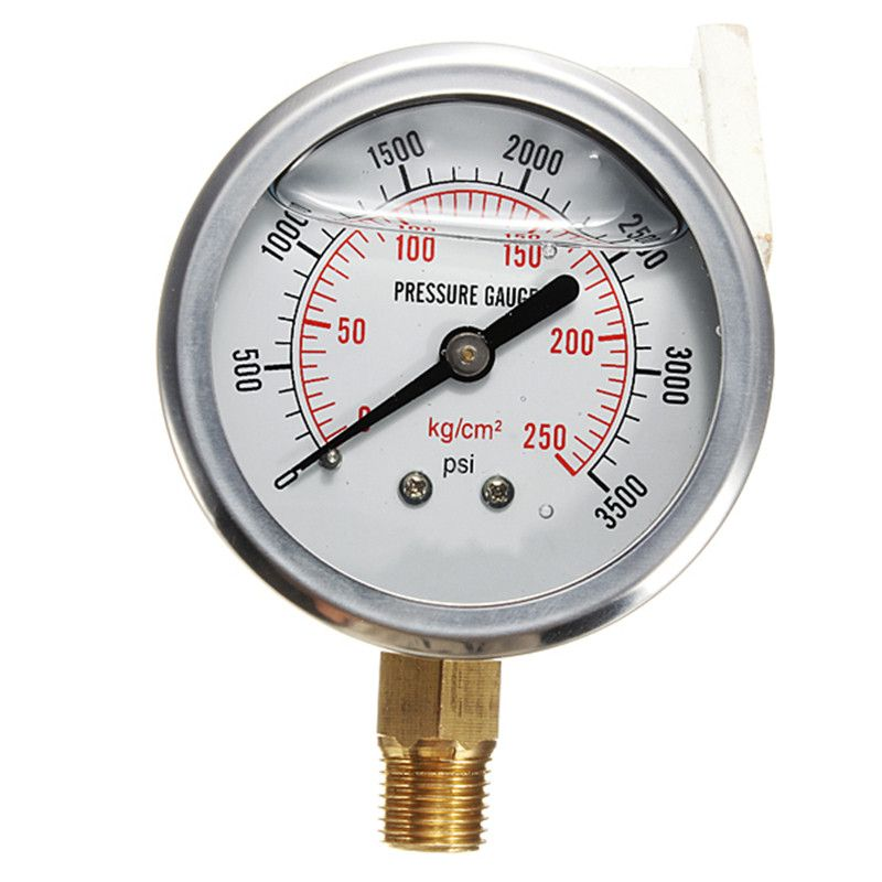 0-3500 PSI Hydraulic Liquid Filled Pressure Gauge New Arrival High Quality