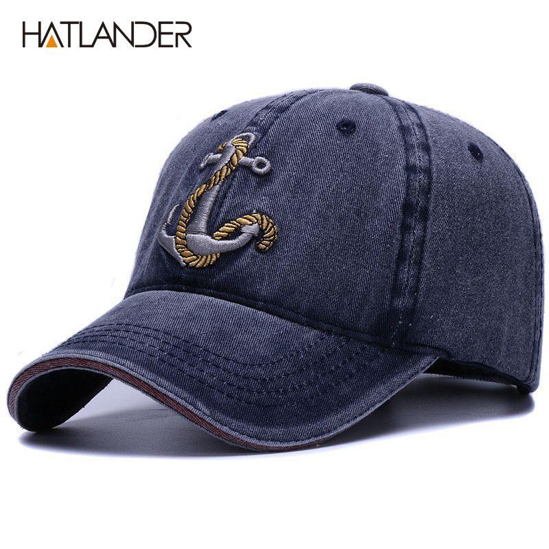 [HATLANDER] marque lavé doux coton casquette de baseball chapeau pour femmes hommes vintage papa chapeau 3d broderie décontracté sports de plein air casquette