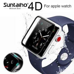Suntaiho 4D/3D surface courbe 9 H Trempé film Pour Apple montre 38mm 42mm Écran Protecteur pour Apple Série montre 1/2/3 Film