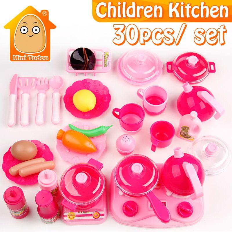 Enfants Cuisine Set Pretend Jouer Coupe Jouet Ustensiles 9-30 pcs Fruits Légumes En Plastique Enfants Cuire les Aliments Eduacation Jeu