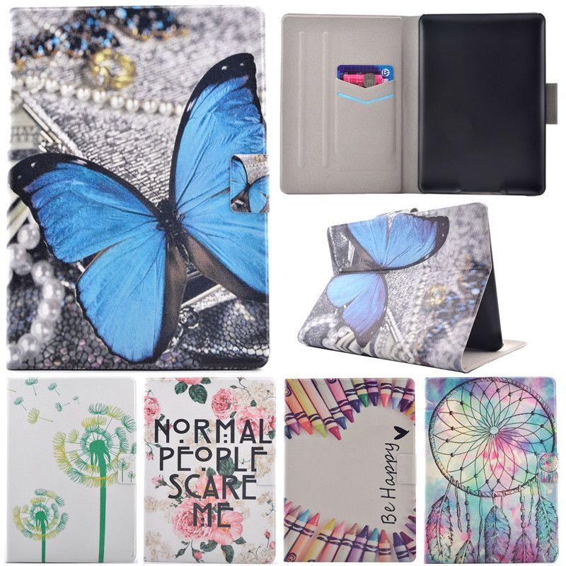 Nouveau Kindle 2016 mignon dessin animé arbre papillon support Flip en cuir Fundas étui pour Amazon Kindle 8 génération 2016 6.0