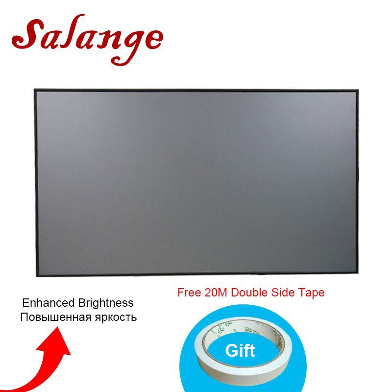 Salange Projector Screen,60 72 84 100 120 inch 16:9 Reflective Fabric Cloth For YG300 YG400 Q2 XGIMI H2 JMGO DLP LED Projector