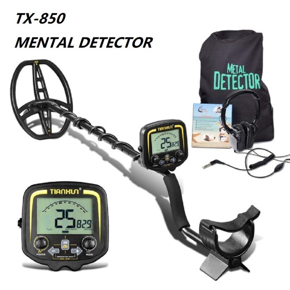 TX-850 Professionelle Tiefe Metall Detektor Unterirdischen Gold Scanner Finder Gold Detektor Schatz Hunter Erfassen Pinpointer Heißer