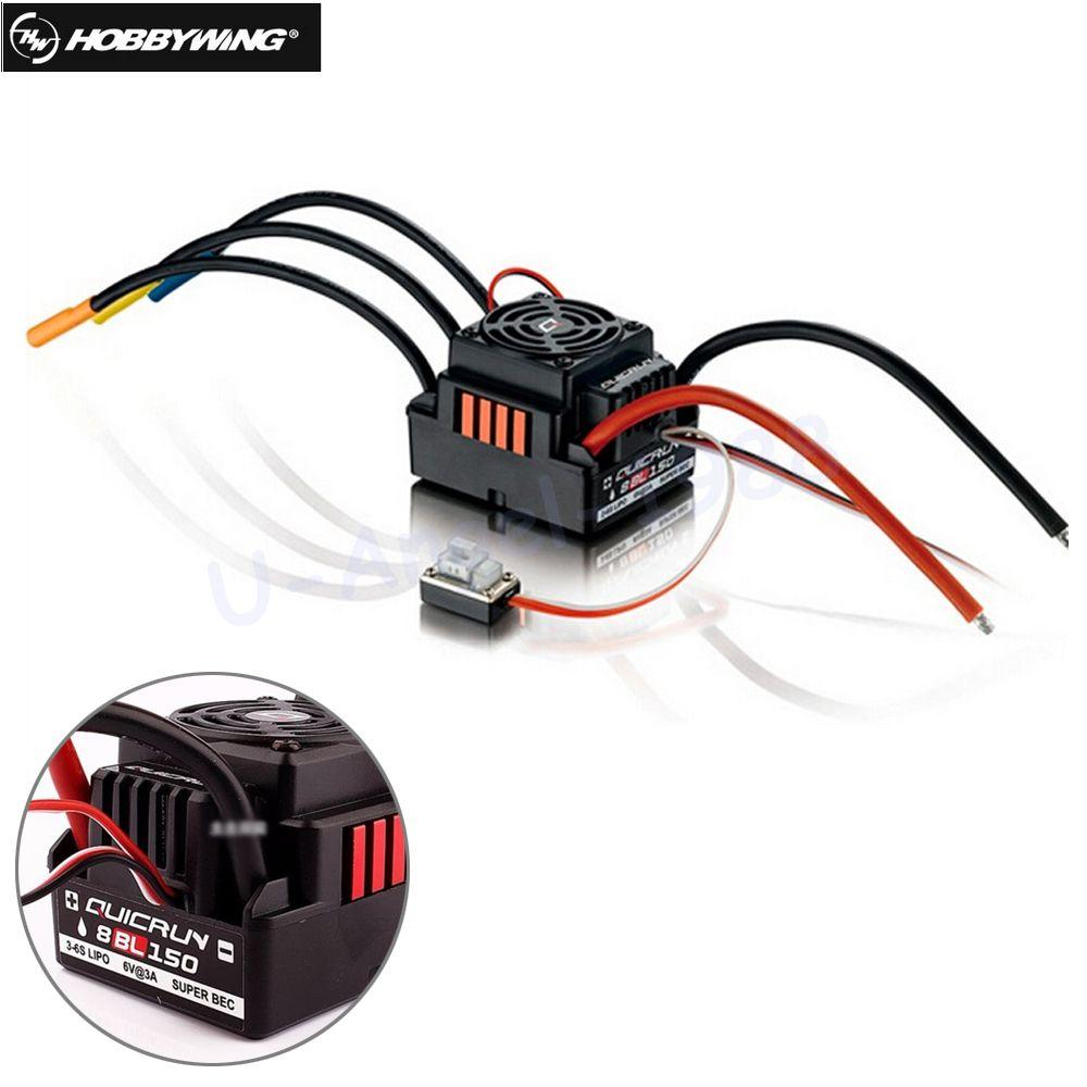 1pcs Original Hobbywing Quicrun 8BL150 Brushless Waterproof Sensorless 150A ESC Rock Crawler ESC For 1/8 Rc Car