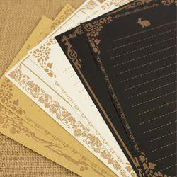 8 feuilles/set Européenne Vintage Style Papier à Lettres Lettre Bonne Qualité Culture Papeterie Kraft Lettre Bureau