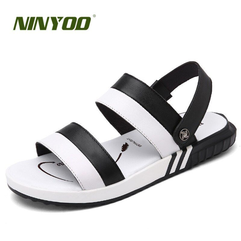 NINYOO Simple Men's Sandals Slippers Comfortable Summer Casual Shoes Lovers Youth Beach Sandals Zapatos Flip Flops Plus Size 47