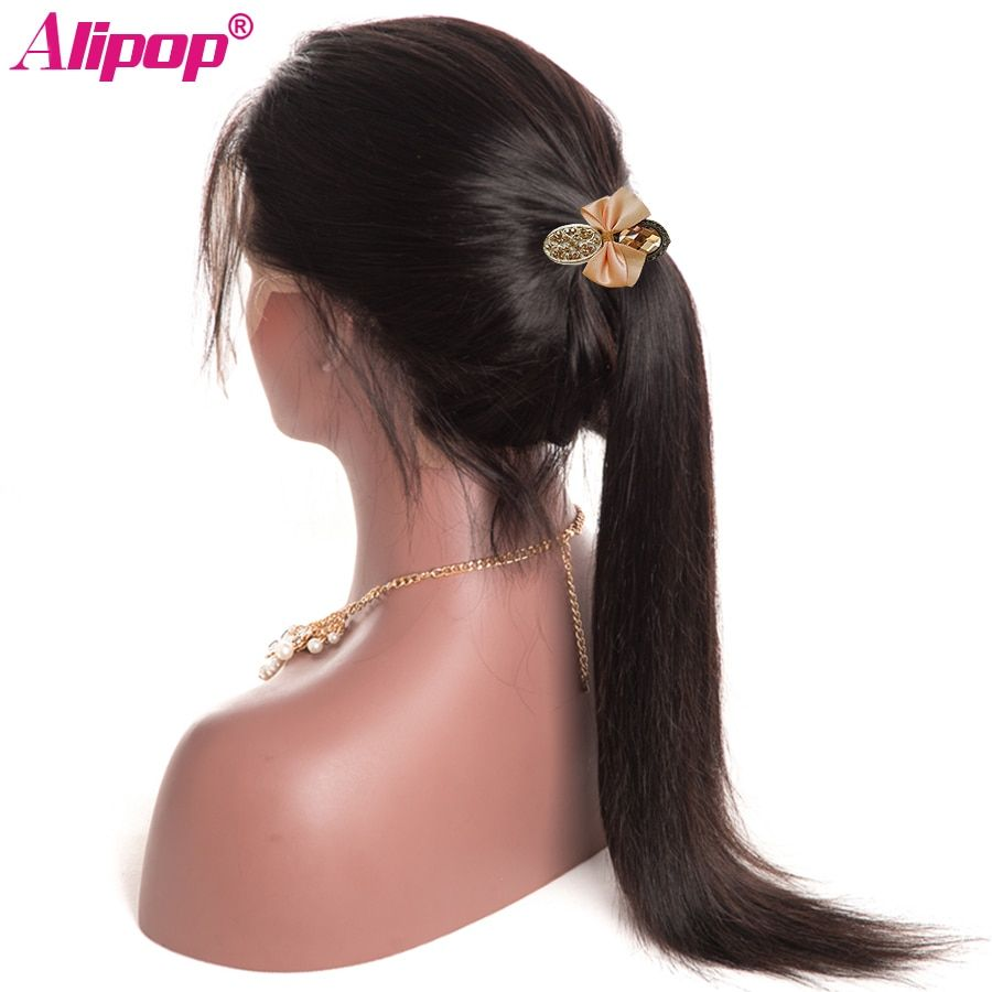 Brazilian Lace Front Human Hair Wigs For Black Women Full ALIPOP Lace Front Wig With Baby Hair Remy Straight Human Hair Wigs