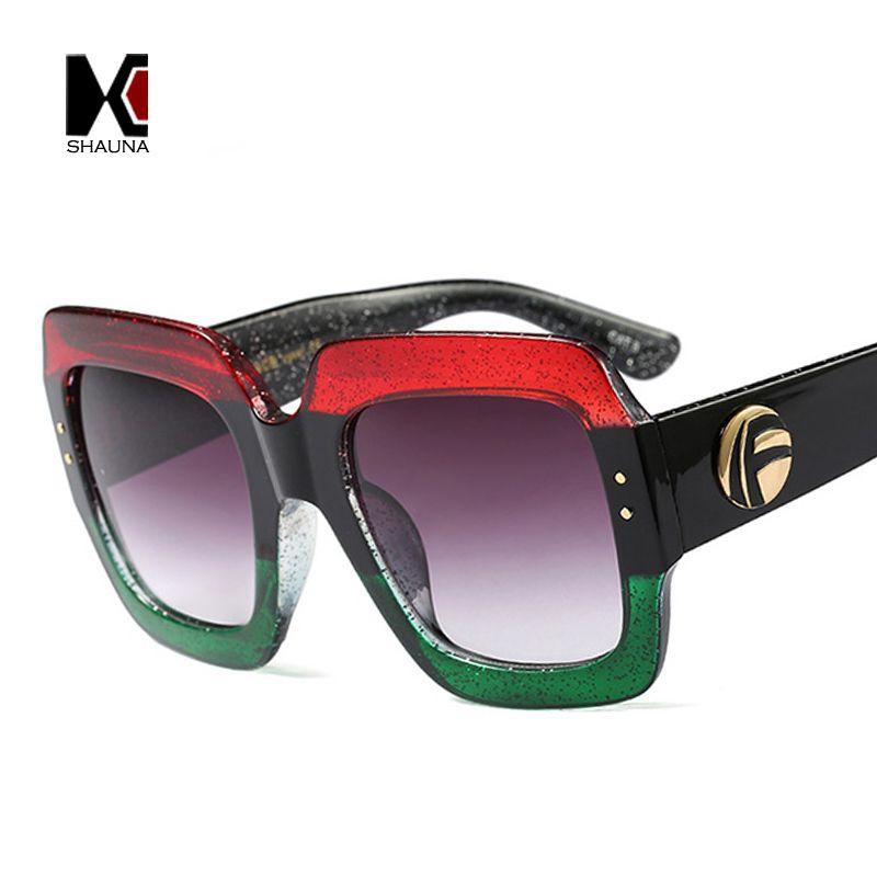 SHAUNA Colorful Pearl Effect Frame Fashion Women Square Sunglasses Brand Designer Popular Men Gradient Lens Shades UV400