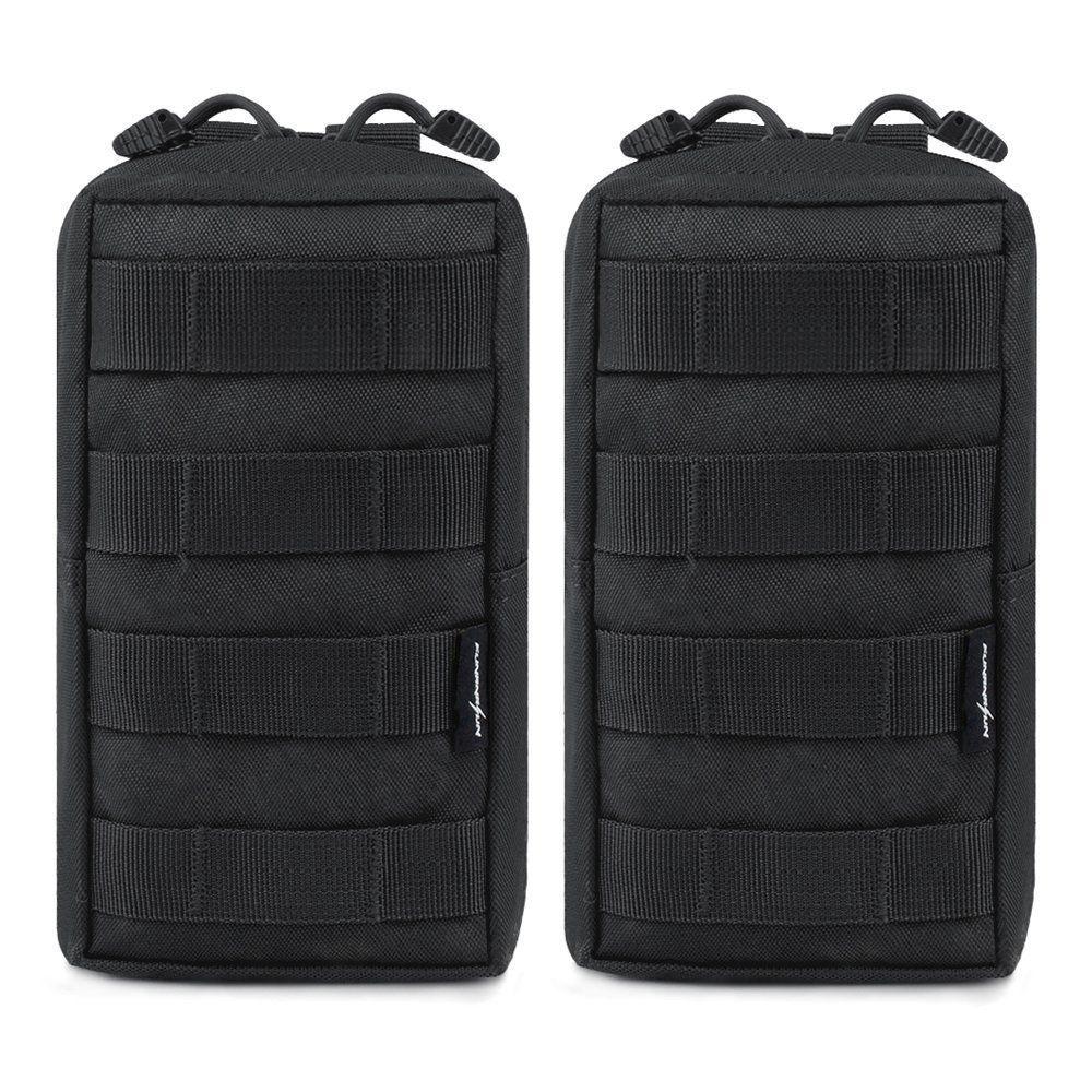 2pcs/lot Tactical Molle Pouches EDC Utility Pouch Gadget Gear Bag Military Vest Waist Pack Water-resistant Compact Bag