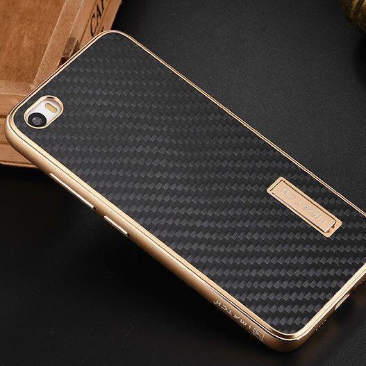 Xiaomi Mi5 Case Luxury Metal Aluminum Frame Real Carbon Fiber Back Cover Set Phone Cases For Xiaomi Mi5 Pro Case M5 Mi 5 Cover