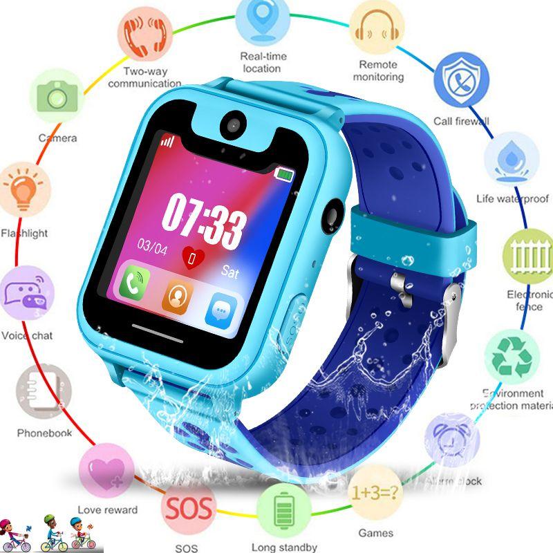 2019 neue Wasserdichte smart Kind Uhr SOS Notruf smartwatch LBS Positioning Tracking kinder smart watch Kinder + Box