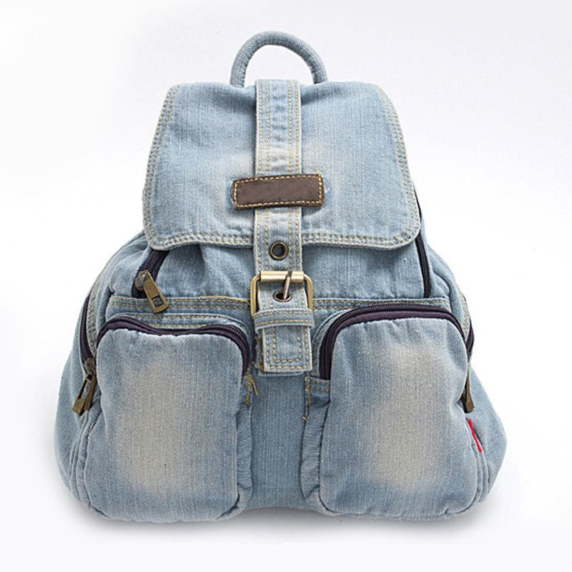 Hot Sale Women backpacks For Girl Teenagers Vintage Denim bags Backpack School Bag Pack travel Bag Feminina Knapsack