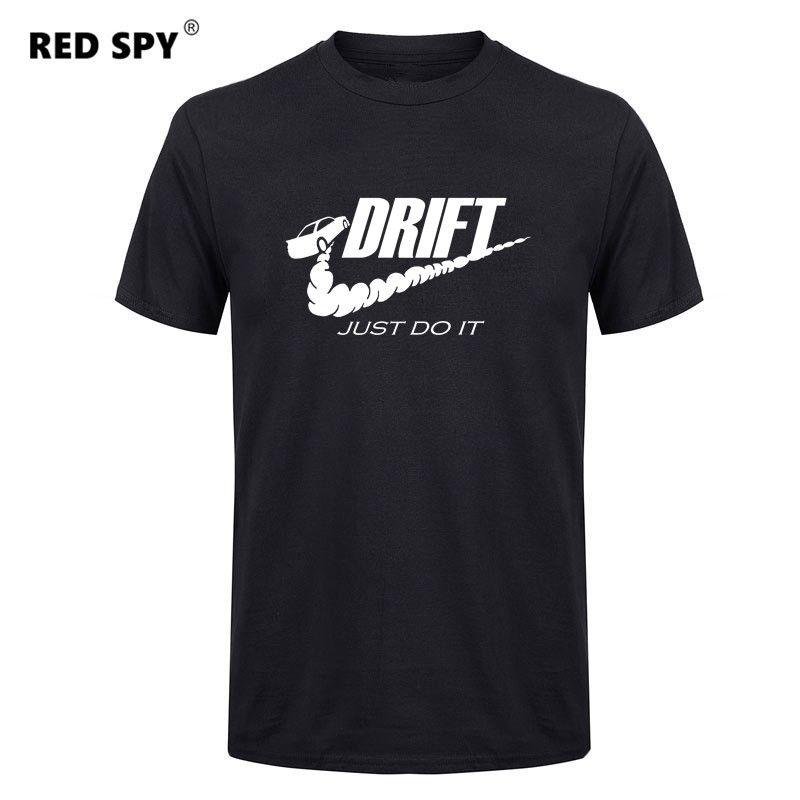 Casual t shirt men car drift just do it Print tops funny Short sleeve t-shirt men Cotton tee shirt mens t shirts fashion 2017