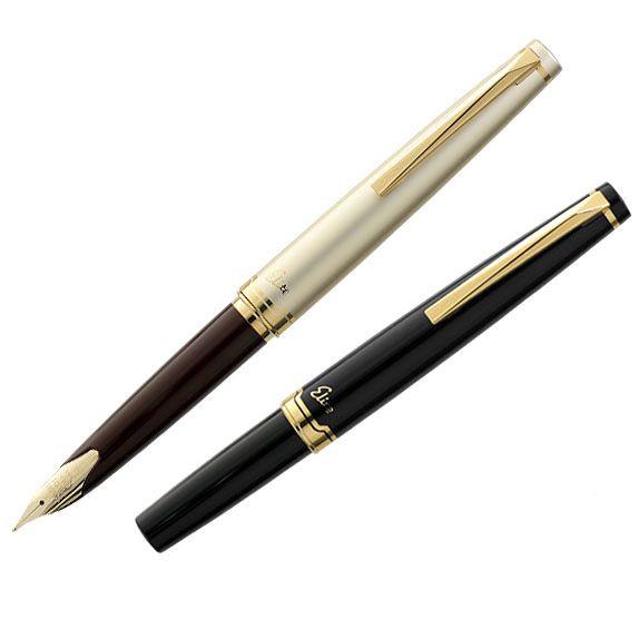 LifeMaster Pilot Elite 95s 14k Gold Pen EF/F/M nib Limited Version Pocket Fountain Pen Champagne Gold/Black Perfect Gift