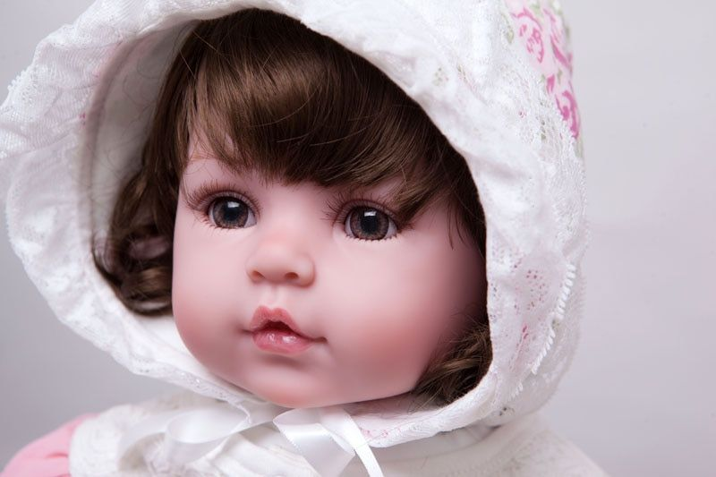 55cm Silicone Reborn Baby Doll Toys Lifelike Vinyl Princess Dolls For Girls Kids Birthday Gift Christmas Present Play House Toy