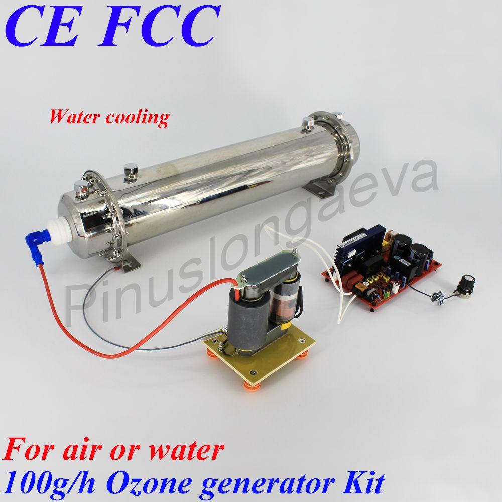 Pinuslongaeva 20g 40g 60g 100g/h 100 gramm einstellbare Quarz rohr typ ozon generator Kit industrielle abwasser abwasser behandlung