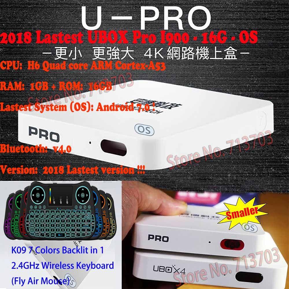 2019 Lastest UNBLOCK UBOX PRO I900 16G OS UBOX5 Bluetooth UBOX 5 Android Free IPTV 1000 Live TV Channels 4K 1080P HD New Zealand