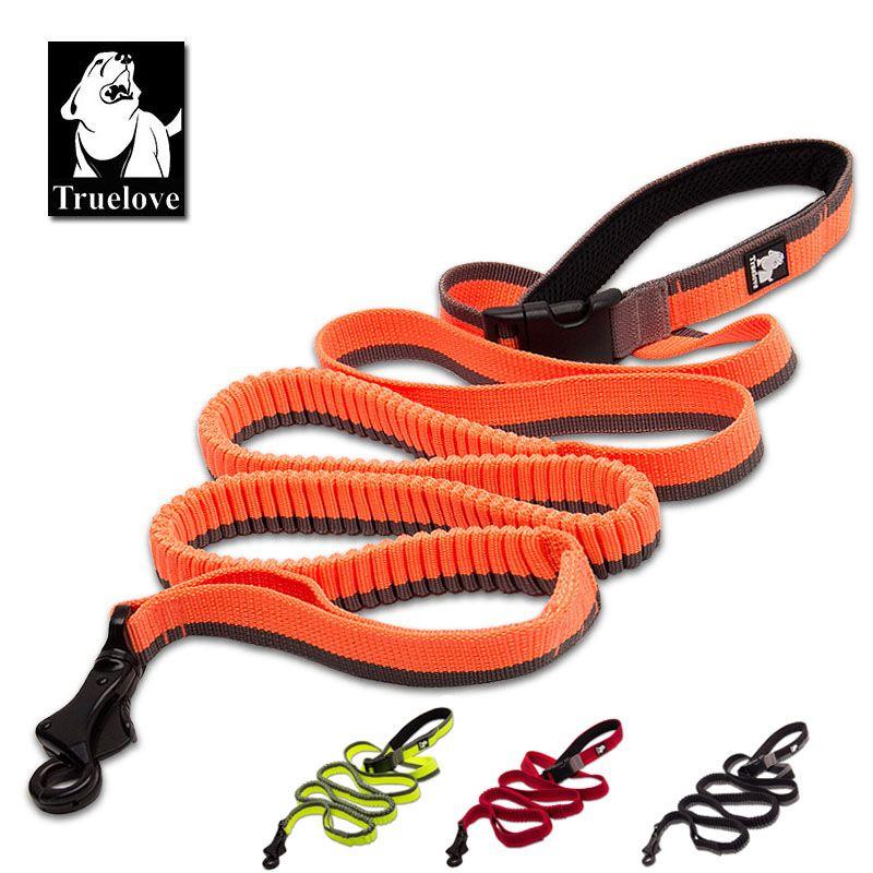 Truelove chien course à l'élastique laisse tenue à la main taille réglable en Nylon élastique rétractable chien conduit pour courir Jogging marche