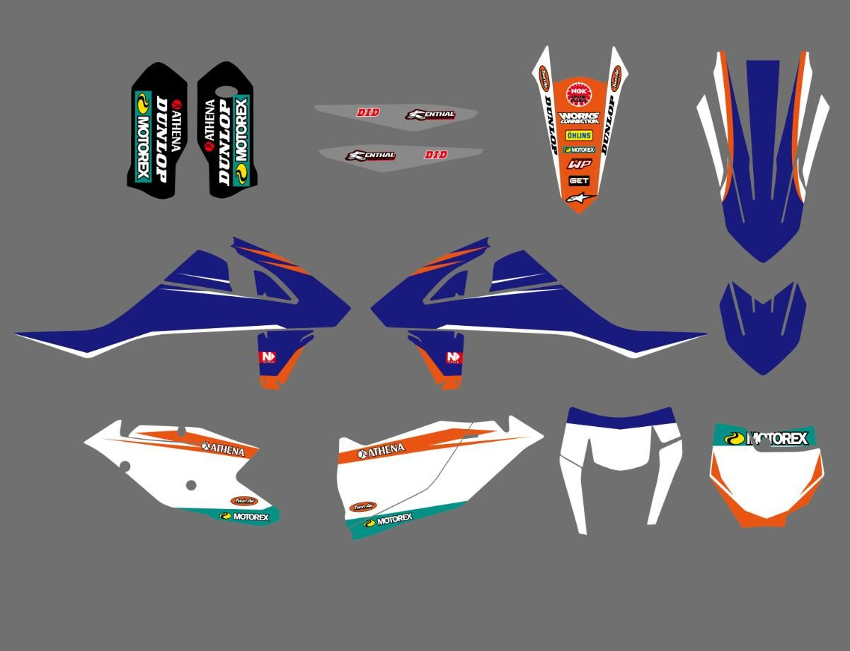 New Bull Full Graphics Decals Stickers Kits For KTM 125 150 250 350 450 SX SXF XC XCF 2016 2017 2018