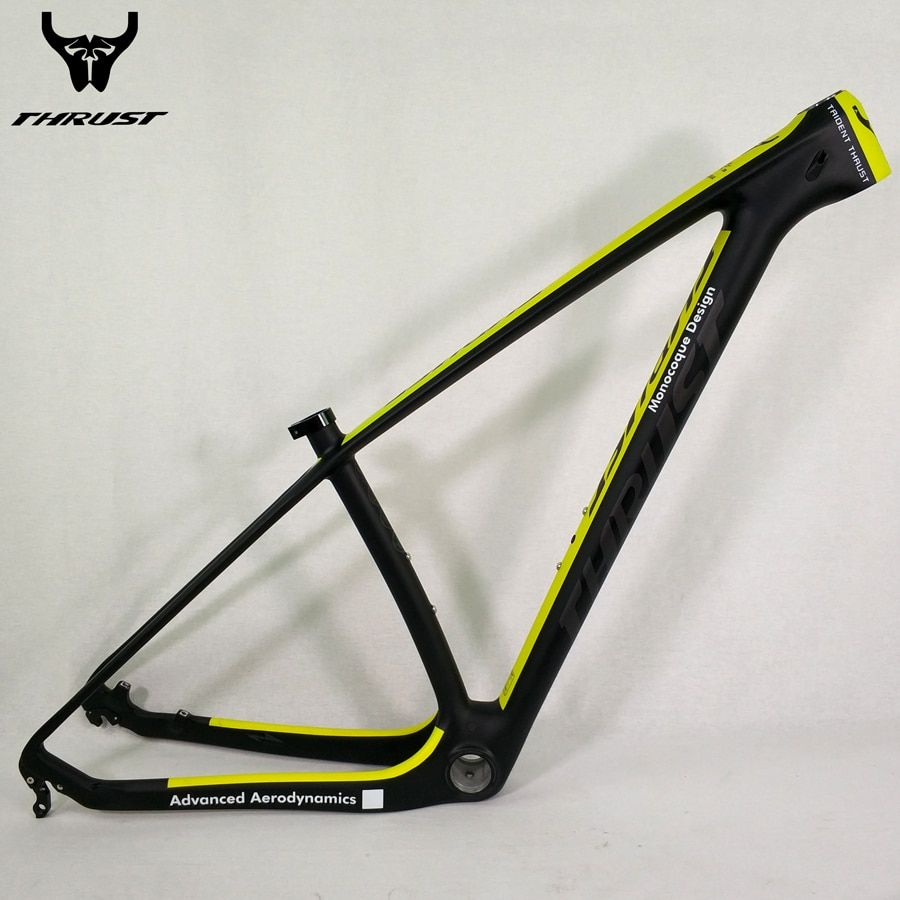 THRUST Carbon Frame 29er 15 17 19 inch Carbon mtb Frame 27.5 Mountain Bicycle Carnon Bike Frame Yellow BSA BB30 Customize Color