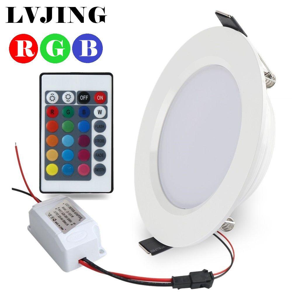 Супер 5 Вт/10 Вт rgb led потолочные Панель свет AC85-265V 24 Цвет светильник лампа с Дистанционное управление Бесплатная доставка