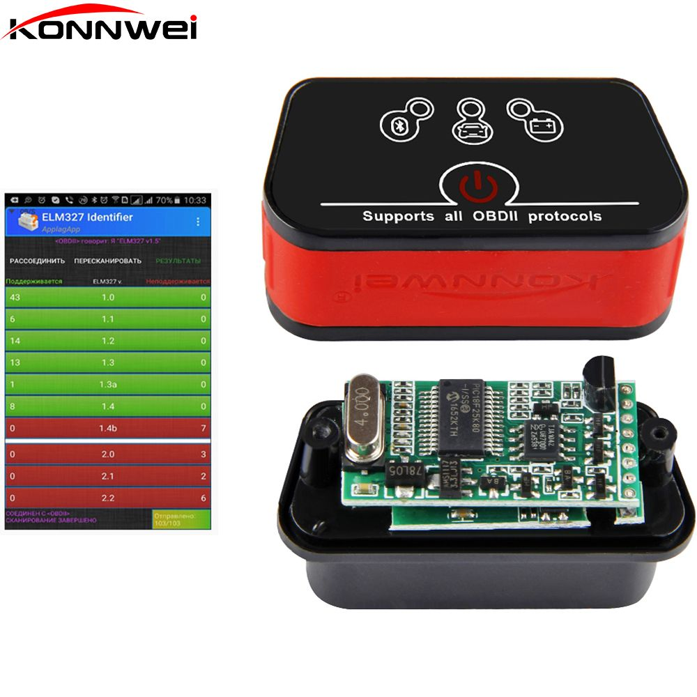 OBD2 wifi EML327 v1.5 Icar2 Auto Diagnostic Scanner ODB 2 Wifi Auto scanner ODB II EML 327 for iPhone ELM 327 Automotive Scanner