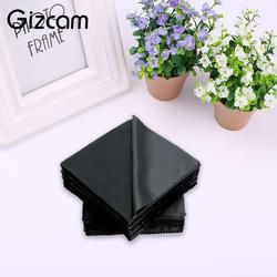 Gizcam 14x14cm Camera Lens Cleaning Cloth Wipes Square Eyeglass LCD Screen Mobilephone Microfiber Cleaner Cloth Black Hot Sale