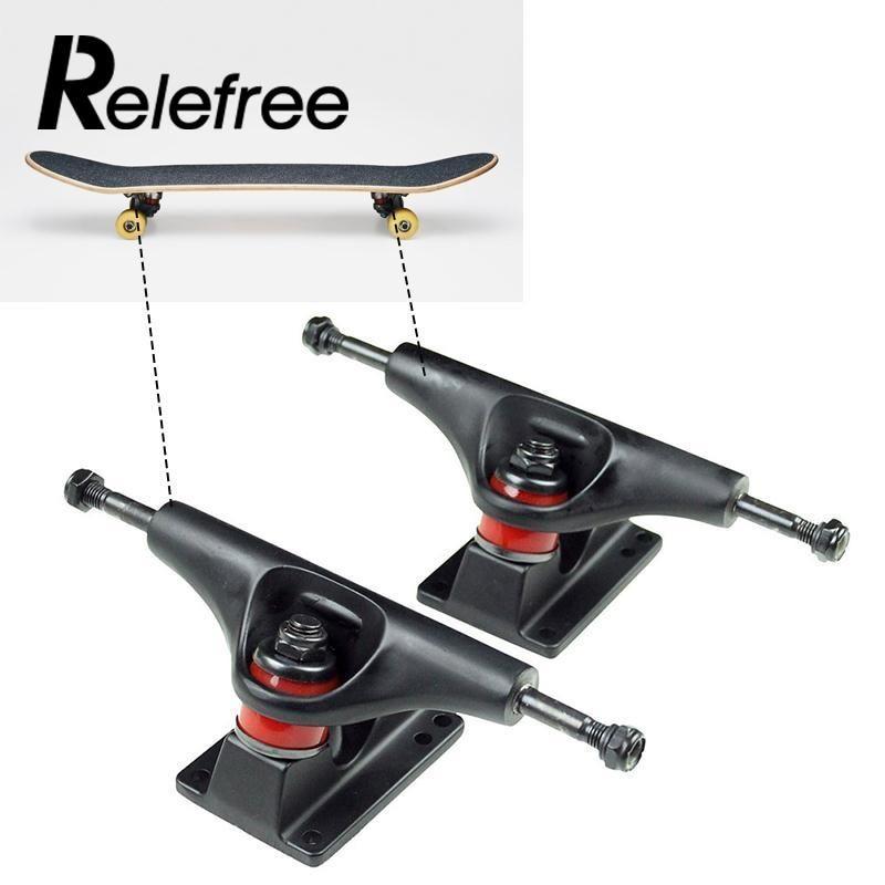 Relefree Hot 2Pcs Aluminum Magnesium Alloy Professional 15 x 7 x 5.9 cm Universal Skateboard Bridge Skate board Truck Bracket