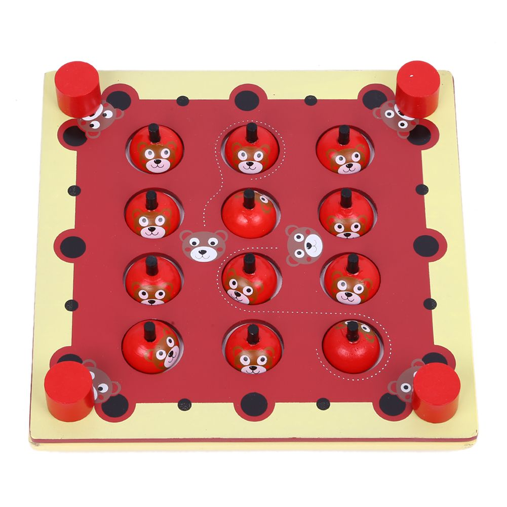 Wooden Memory Game Baby Brain Training Montessori Interactive Desk Toys Children <font><b>Learning</b></font> Educational Toys Kids Birthday Gifts