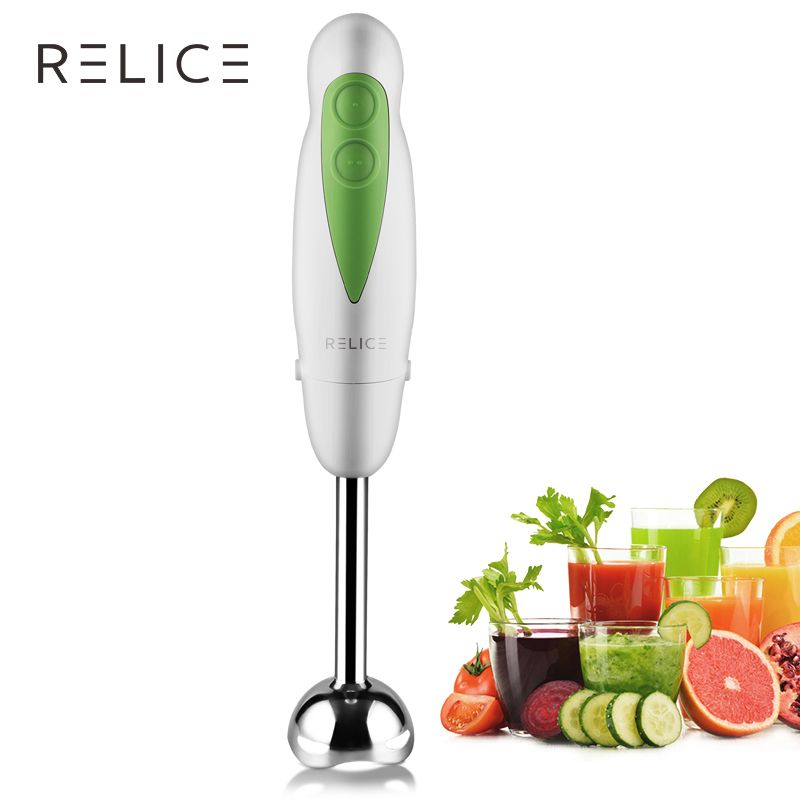 RELICE Electric Handheld Blender Two Gears Push Button Fruit Vegetable Blenders Multi Functional Kitchen Immersion Hand Mixer