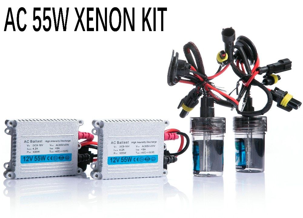 Free shipping 12V 55W hid xenon kit H1 H3 H7 H9 H11 H4 Bi xenon Hi/Low 9005 9006 D2S D2H 9012 hid kit xenon for Headlight