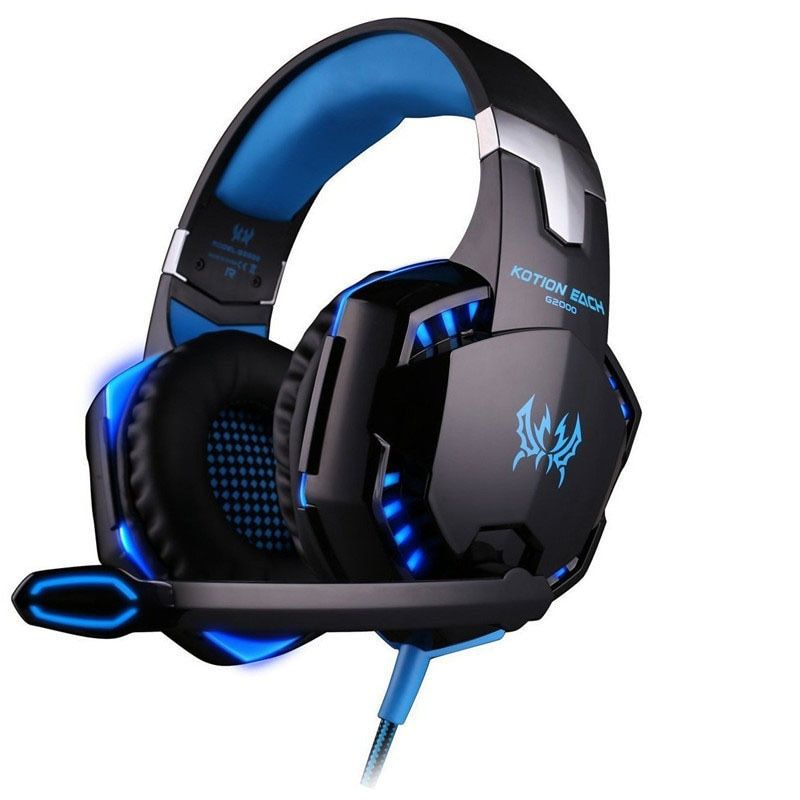 <font><b>Best</b></font> PC Gamer casque EACH G2000 Stereo Hifi Gaming Headphones With Microphone Dazzle Lights Glow Game Music Headset fones