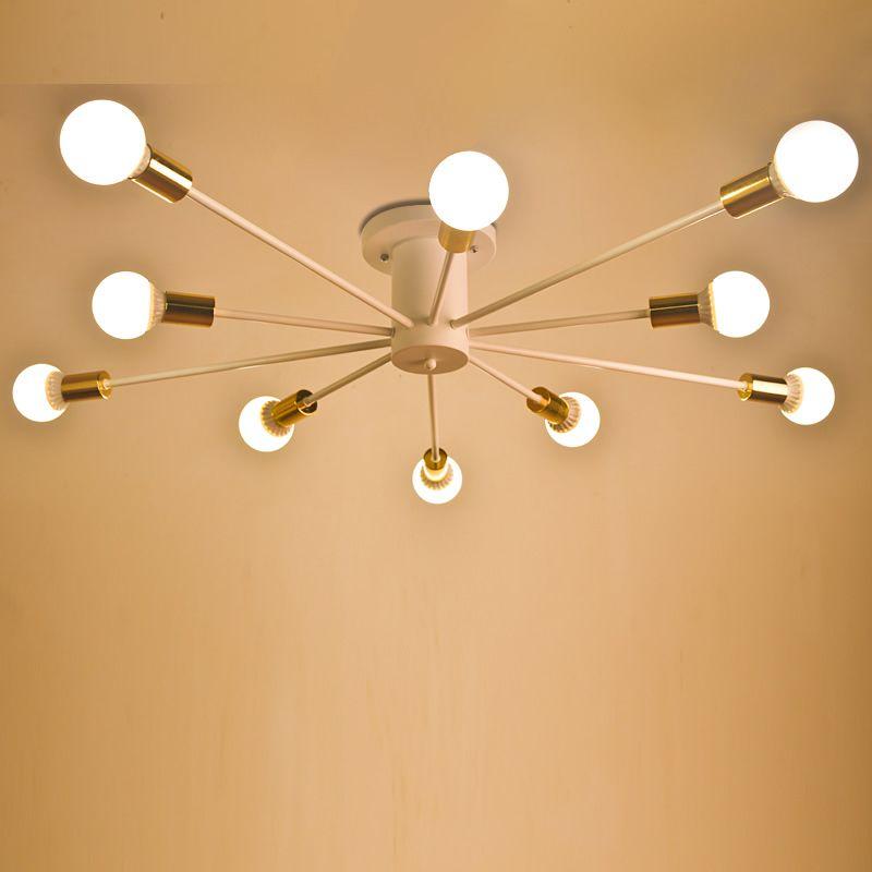 Plafond moderne à LEDs lumières noir blanc salon plafonniers salon chambre Luminaria Lustre plafonniers luminaires