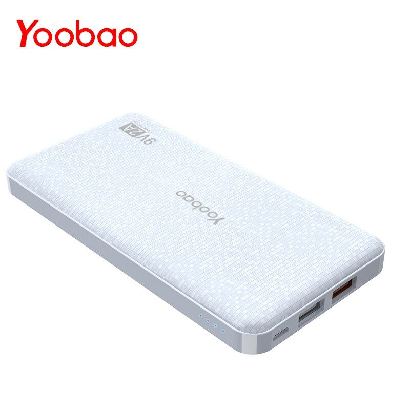 Yoobao Q12 Charge rapide 12000mAh batterie externe Portable 5 V/9 V/12 V USB double Powerbank Mobile pour iPhone Samsung Xiaomi LG