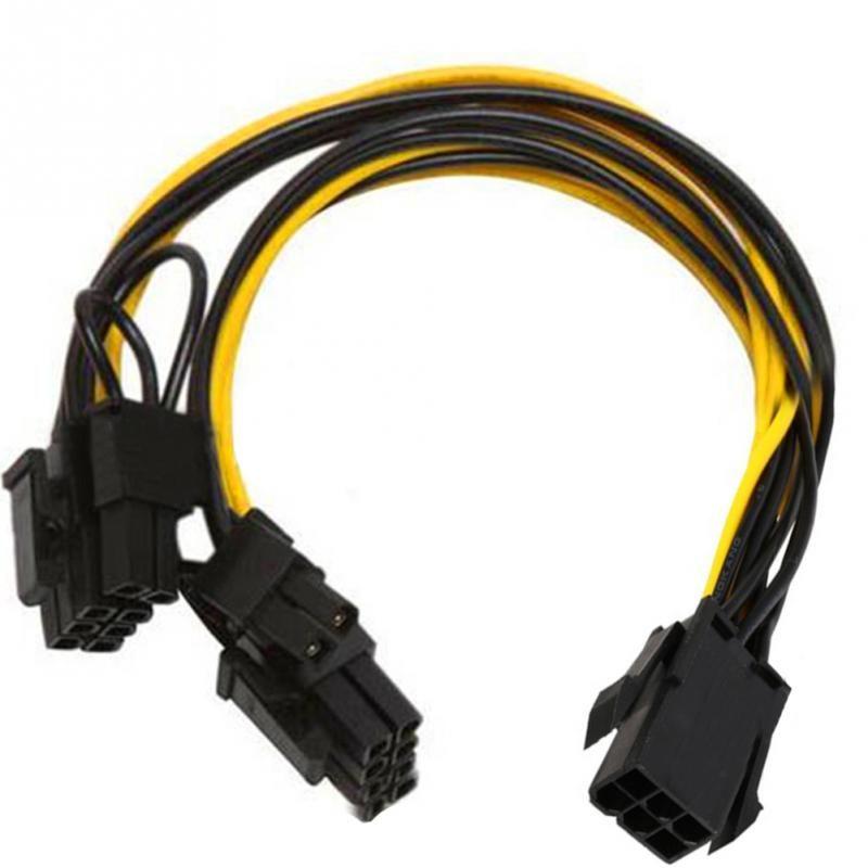 2017 PCI-E 6-pin zu 2x6 + 2-pin (6-pin/8-pin) Power Splitter Kabel PCIE PCI Express FÖRDERUNG NIEDRIGEN PREIS