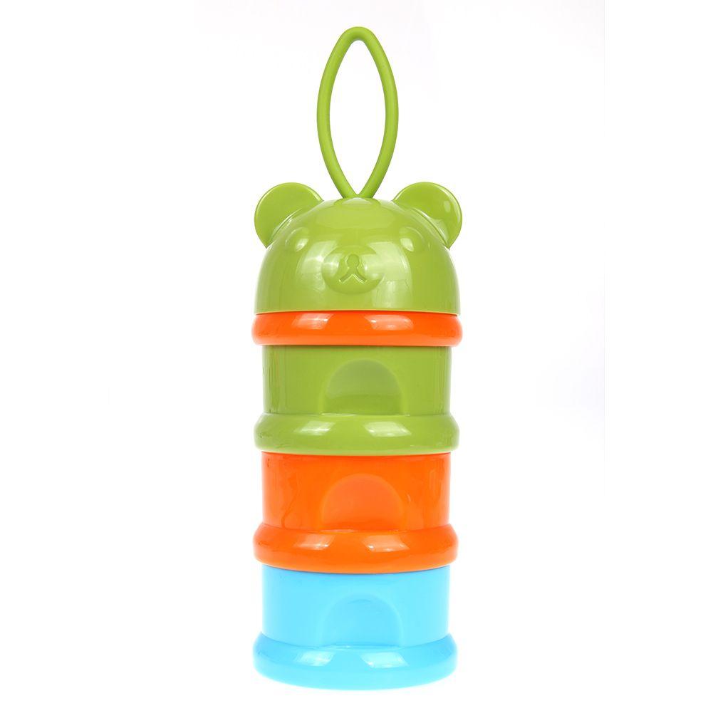 Портативный 3 слоя сухое молоко коробка младенческой Кормление случае пищи Бутылка Box Контейнер