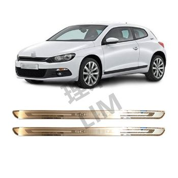 Suitable for Volkswagen VW Scirocco R MK3 2009 2011 2012 Stainless Steel Scuff Plate Door Sill Cover Sticker Car Accessories