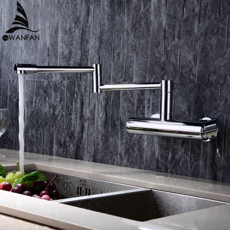 New Water Taps Brass Material Mixer Faucet Kitchen Sink Faucet Single Lever Kitchen Water Mixer Top Quality 360 Rotate Crane L-2