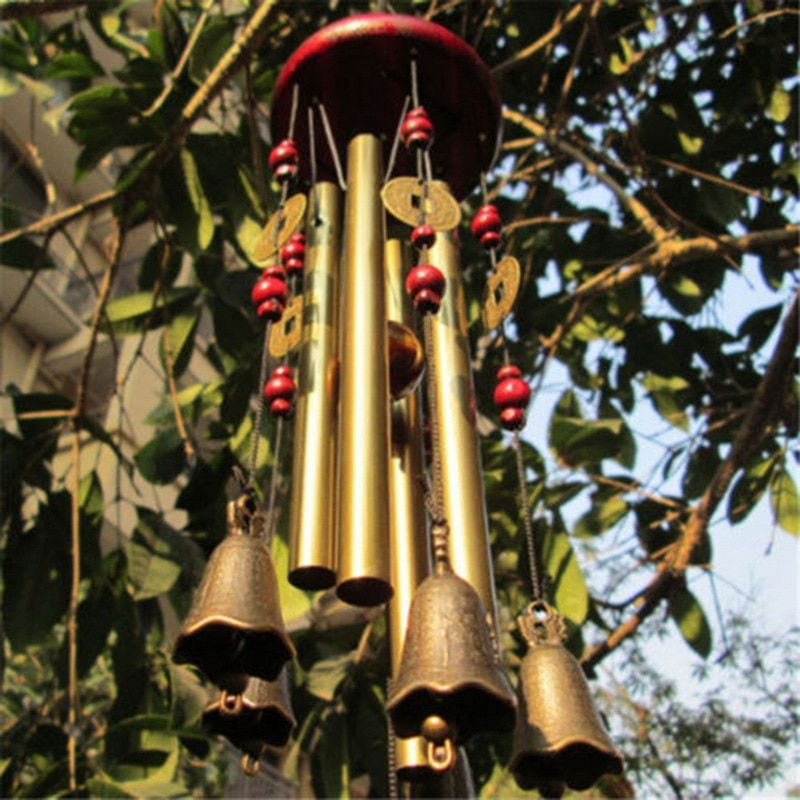 Außen Antiken Erstaunliche Gnade Tiefe Resonanz 4 Rohr Windchime Kapelle Kirche Glocken Windspiele Tür Hängen Neue Jahr Decor