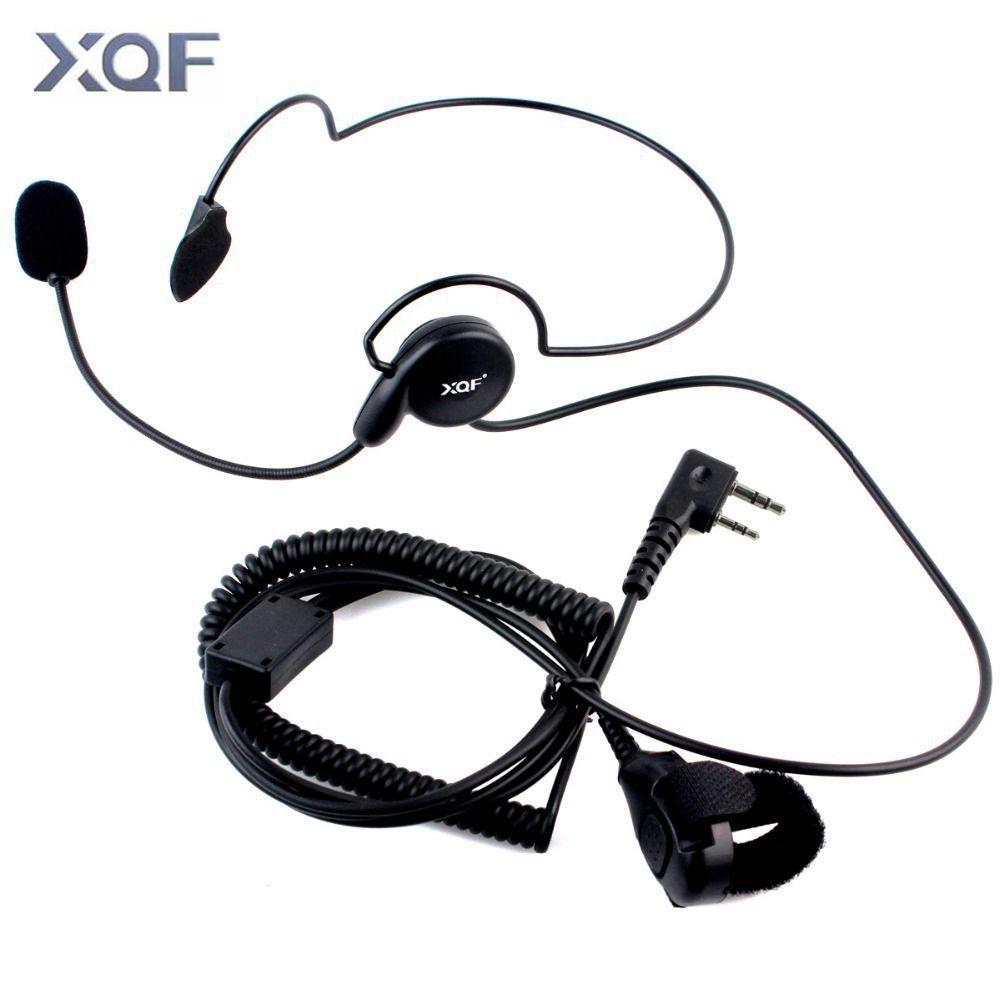 Erweiterte Einseitige Kopfhörer Mic Finger PTT Nackenbügel Hörer Radfahren Feld Taktische Headset Für Kenwood BAOFENG Radio