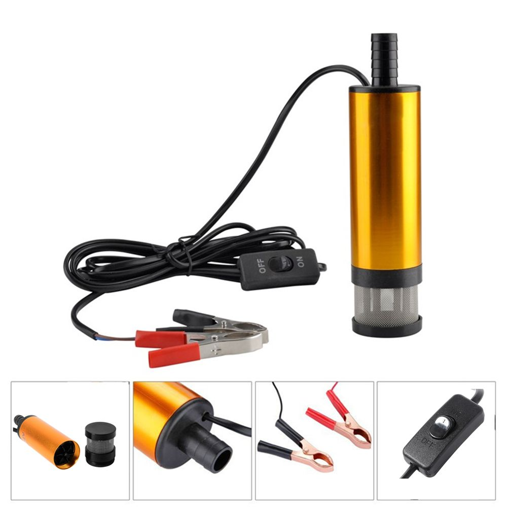 12V Car Electric Submersible Pump Diesel Fuel Water Oil Transfer Submersible Pump with On/Off Switch Oil <font><b>Engine</b></font> Transfer pump