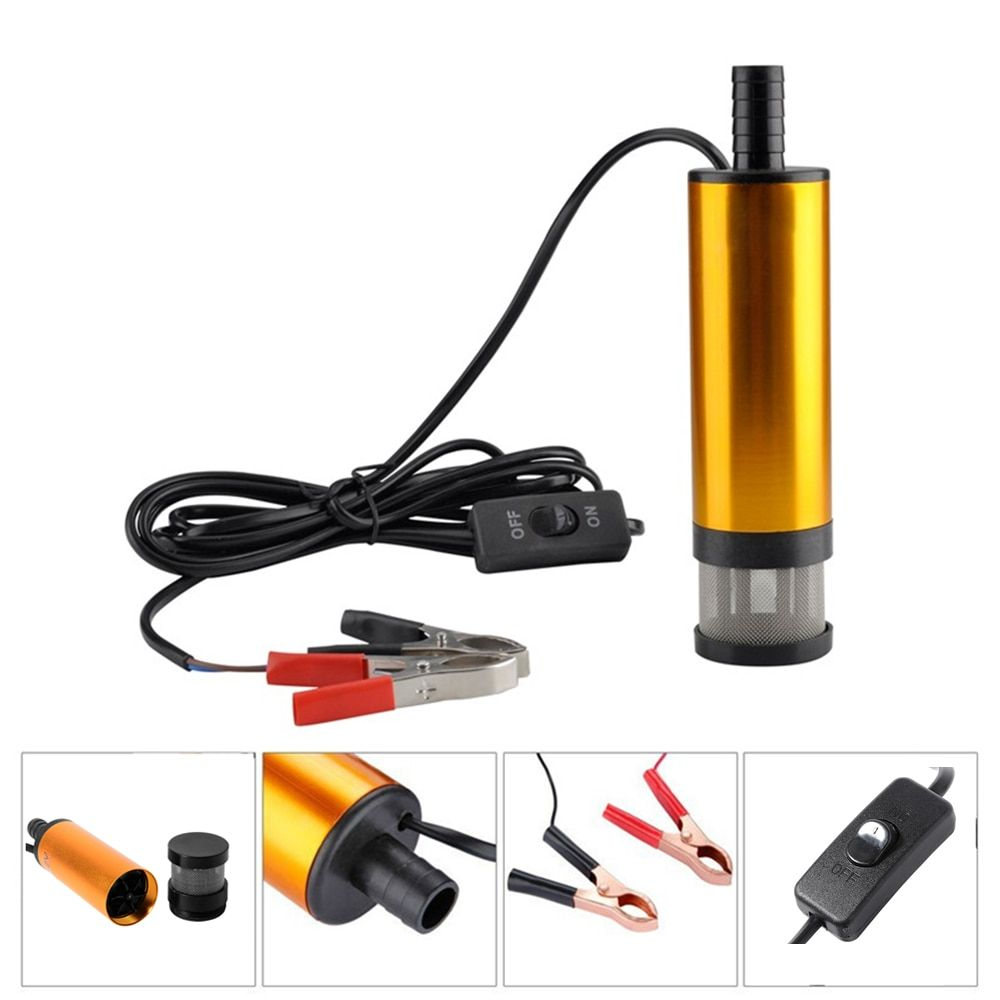 12V Car Electric Submersible Pump Diesel Fuel Water Oil <font><b>Transfer</b></font> Submersible Pump with On/Off Switch Oil Engine <font><b>Transfer</b></font> pump