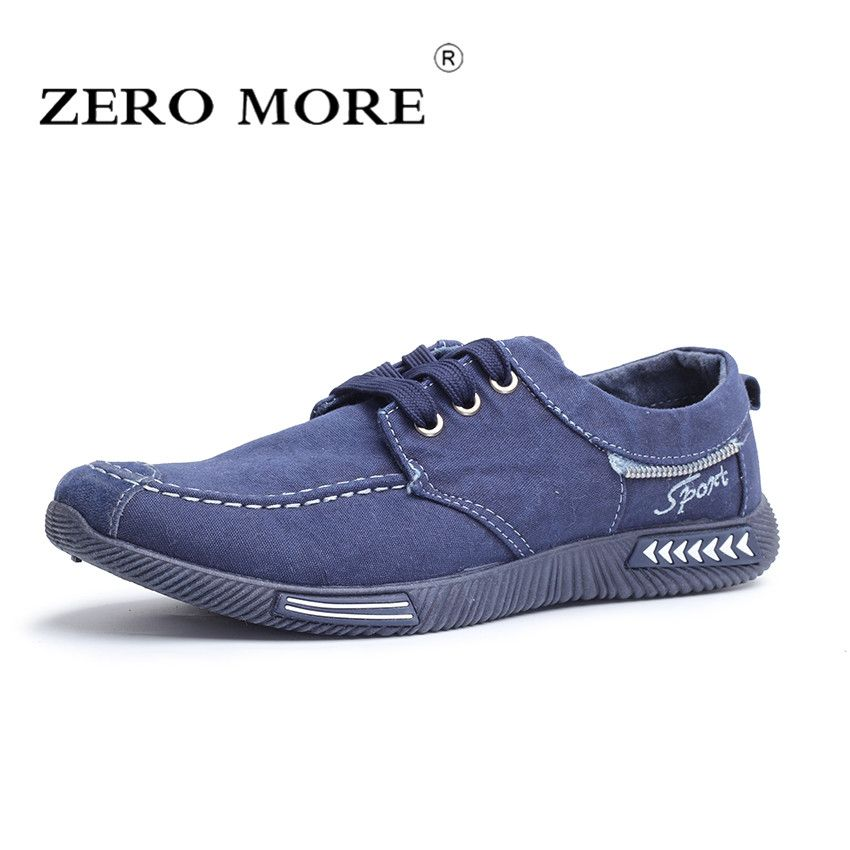 <font><b>ZERO</b></font> MORE Canvas Men Shoes Denim Lace Up Men Casual Shoes New 2018 Plimsolls Breathable Male Footwear Spring Sneakers RME-252