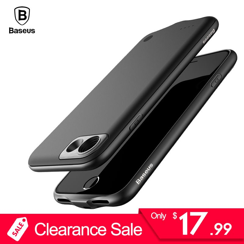 Baseus Battery Charger Case For iPhone 8 7 Plus 2500/3650mAh Backup Powerbank Charging Case For iPhone 8 7 External Battery Case