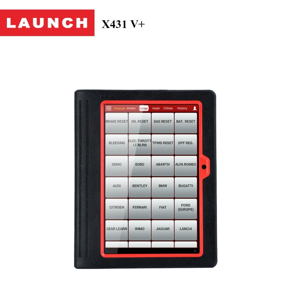 Launch car scanner X431 V+ for 12V gasoline&diesel cars full ECU system auto diagnostic tool in Russian 2 Year Free Update
