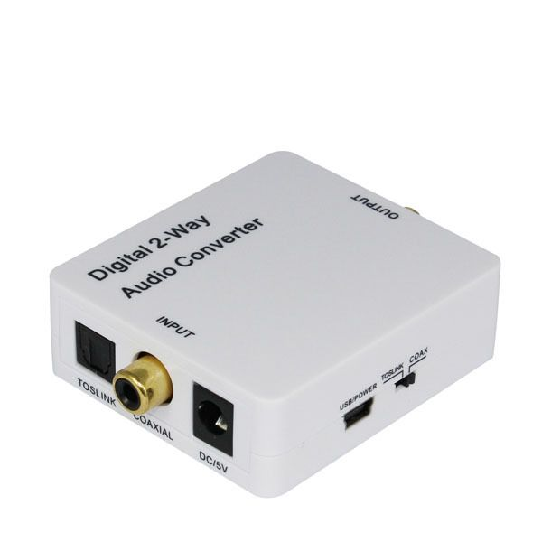 Hot Digital Audio Converter bi-directional Optical spdif toslink to coaxial or SPDIF coaxial to toslink audio converter AU2CT