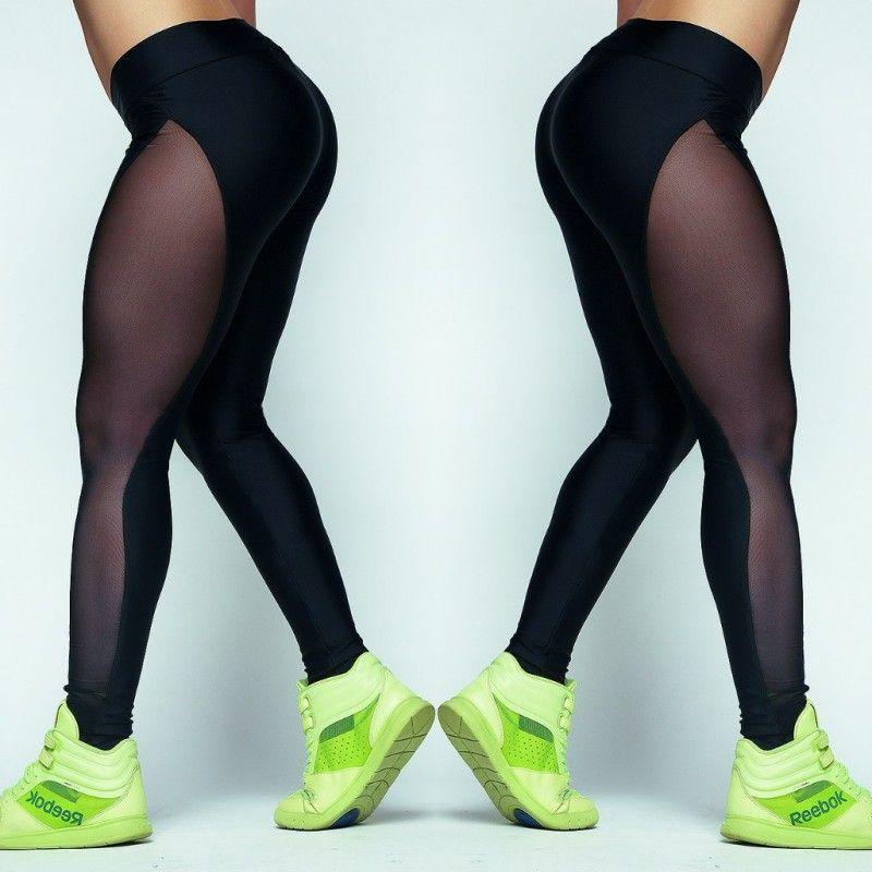 Leggings Femmes Fil Net Pantalon D'été Femmes Workout Leggings Push-Up Sportives Leggings Maille Transparent Élastique Maigre Remise En Forme