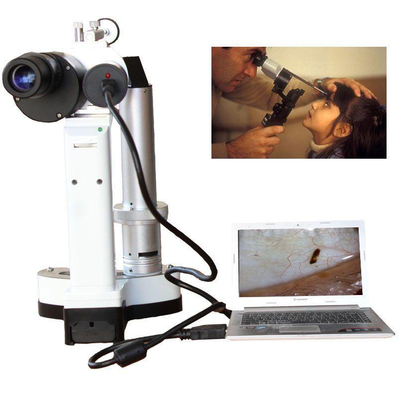 LYL-S Tragbare Spaltlampe Led-lampe Tragbare Mikroskop für Pet krankenhaus augenheilkunde Kamera Insgesamt 10x und 16x Vergrößerung