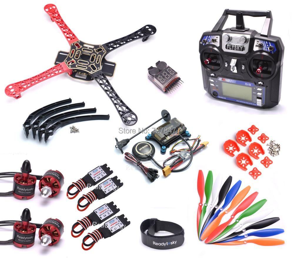 F450 450mm Quadcopter Frame Kit w/ APM2.8 Controller board M8N GPS 30A Simonk esc 2212 920kv Flysky i6
